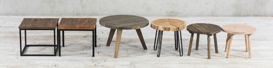 stoliki ze starego drewna